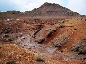 Красная пустыня в районе Кума